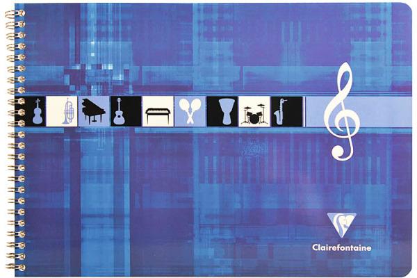 CLAIREFON Musikheft Spiral A4 8104 weiss 25 Blatt