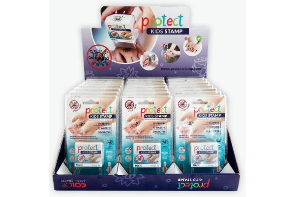 COLOP Stempel protect Kids Display 155344 stamp-wash-protect 10 Stück