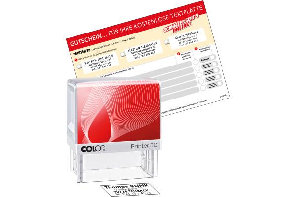 COLOP Mehrtextstempel 30 G7 5 Zeilen 18x47mm