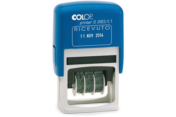 COLOP Datumstempel Ricevuto S260L1 I 24x45mm Italienisch