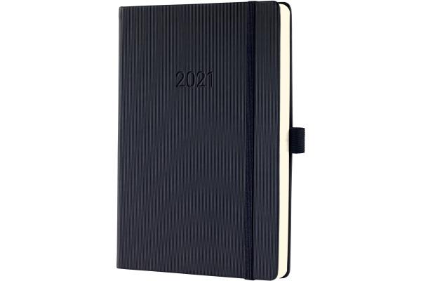 CONCEPTUM Tageskalender 2021 C2110 black ca. A5