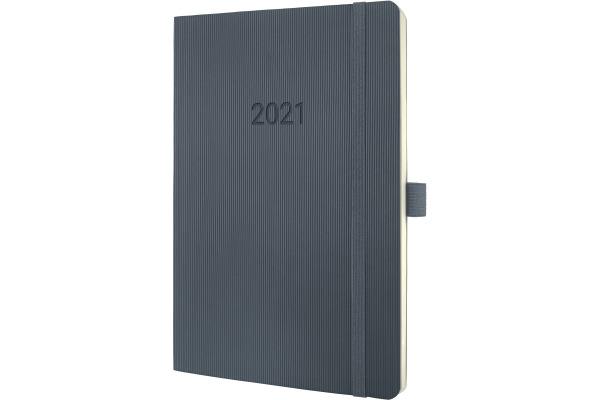 CONCEPTUM Wochenkalender 2021 C2136 dark grey ca. A5