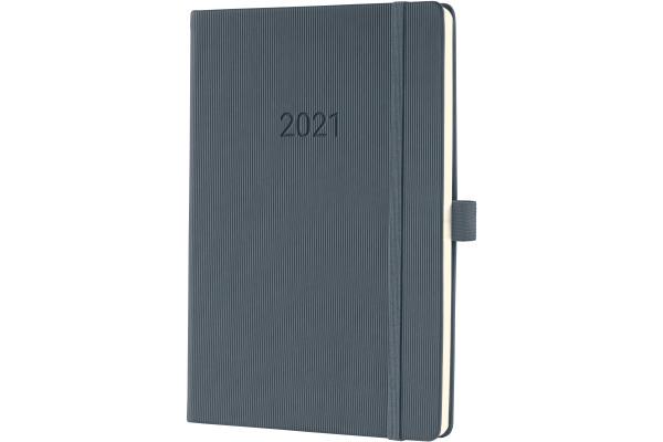 CONCEPTUM Wochenkalender 2021 C2166 dark grey ca. A5