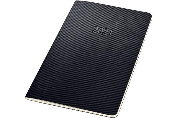 CONCEPTUM Monatskalender 2021 C2184 black ca. A5