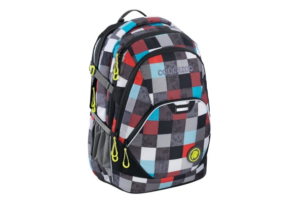"""Coocazoo Rucksack /""""EvverClevver2/"""" Checkmate Blue Red"""