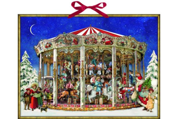 COPPENRAT Wand Adventskalender 70300 Weihnachtskarussell 52x38cm