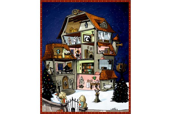 COPPENRAT Zettel-Adventskalender 94394 Weihnachtsschatz 47x59cm
