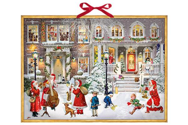 COPPENRAT Adventskalender 52x38cm 94787 A Wonderful Christmas Time