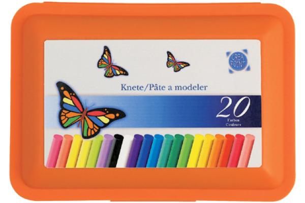 CREAPOINT Modellierknete 280961 20 Farben ass.