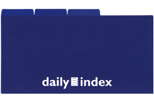 DAILY Organisationsmappen 21x13cm 256567 blau 3 Stück