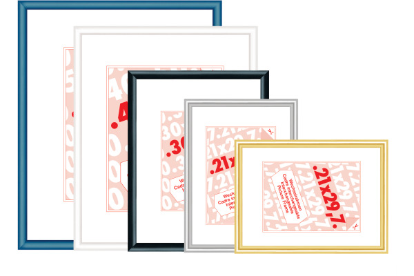 DEBEX Wechselrahmen 62x93cm 727001620930 Kunstglas, gold