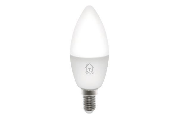 DELTACO Smart LED light E14, 5W SHLE14W white, dimmable, WiFi 2.4GHz