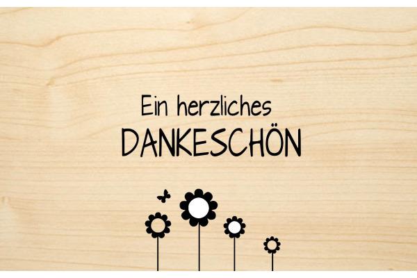 LASEREI Holzgrusskarte HGDA0101 Danke 01
