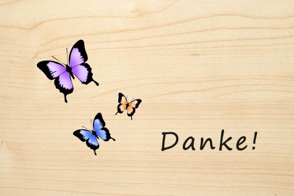 LASEREI Holzgrusskarte HGDA0104F Danke 04 Farbe