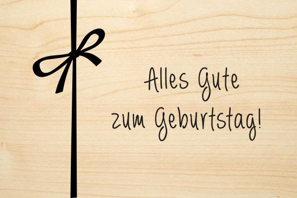 LASEREI Holzgrusskarte HGGEB101 Geburtstag 01
