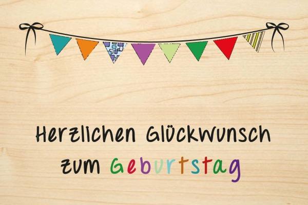 LASEREI Holzgrusskarte HGGEB127F Geburtstag 27 Farbe