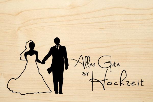 LASEREI Holzgrusskarte HGHO0111 Hochzeit 11