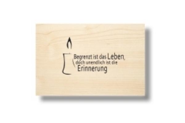LASEREI Holzgrusskarte HGTR0101 Trauer 01