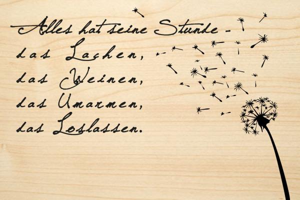 LASEREI Holzgrusskarte HGTR0103 Trauer 03