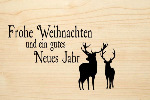 LASEREI Holzgrusskarte HGWE0102 Weihnachten 02