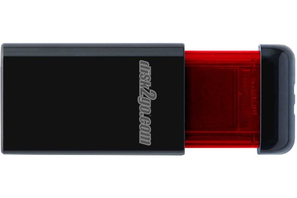 DISK2GO USB-Stick qlik edge 256GB 30006727 USB 3.1 red