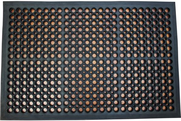 DOORTEX Anti-Ermüdungsmatte FR480120F Gummi 80x120cm schwarz