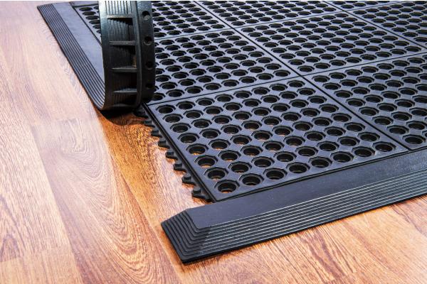 DOORTEX Anti-Ermüdungsmatte Modulare FR49090FR Gummi 90x90cm erweiterbar