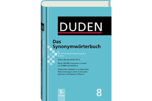 DUDEN Duden 411040872 Sachverwandte Wörter Band 8