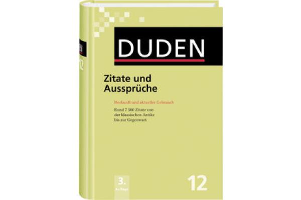 DUDEN Duden Band 12 411041244 Zitate und Aussprüche