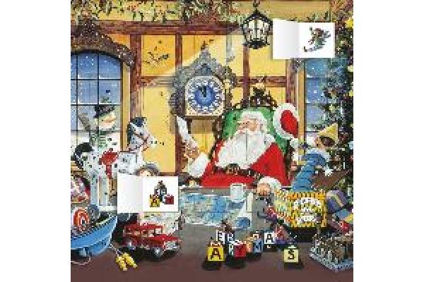 DUMONT Advent Weihnachtsmann 809630724 D, 30x30cm, 2019