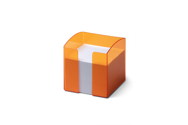DURABLE Zettelbox Trend 90x90mm 170168200 orange transp.