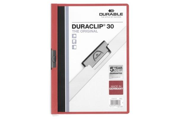DURABLE Klemmhefter DURACLIP 30 2200/03 für 30 Blatt A4 rot