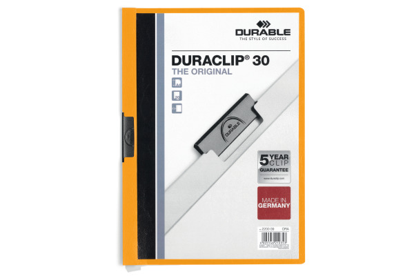 DURABLE Klemmhefter DURACLIP 30 A4 220009 orange