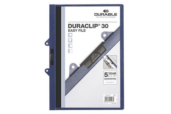 DURABLE Klemmhefter 30 EASY FILE 2229/07 für 30 Blatt A4 dunkelblau