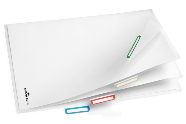 DURABLE Organisationshülle A4 2316-19 transparent, 3-teilig 5 Stück