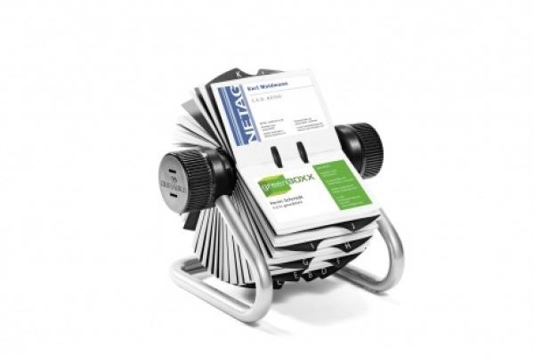 DURABLE Rollkartei VISIFIX FLIP 248123 silber, f. 400 Karten 104x72mm