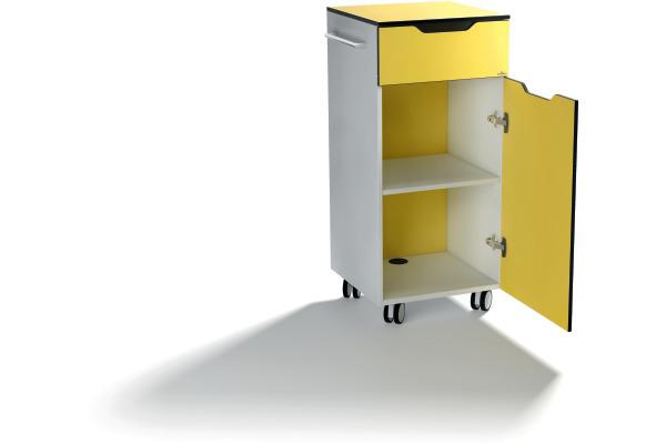 DURABLE Multi Trolley QUADRO ADVANCED 313104 56x100x45cm, gelb