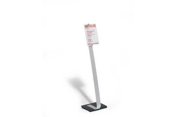 DURABLE Bodenständer CRYSTAL SIGN A4 481823 111-118cm