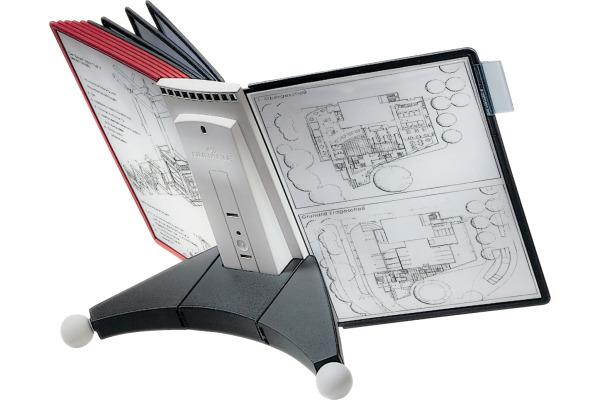DURABLE Displaysystem SHERPA Table 10 563200 rot schwarz,...