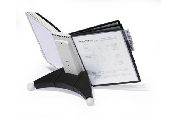 DURABLE Displaysystem SHERPA Table 10 563222 grau/schwarz,10 Sichttafeln A4