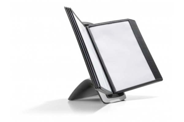DURABLE Displaysystem SHERPA Style 10 585501 schwarz, mit 10 Sichttafeln A4