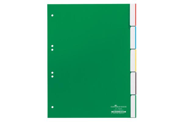 DURABLE Register grün A4 6220 05 5-teilig, blanko