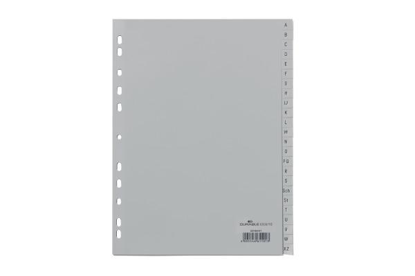 DURABLE Register grau A4 6508 10 A-Z
