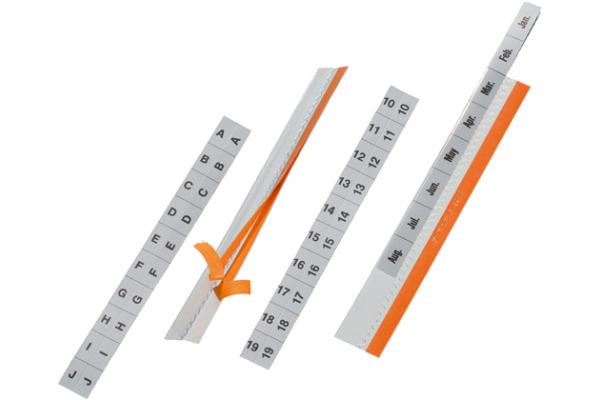 DURABLE Tabfix 3-zeilig 20cm 8403 19 transparent 5...