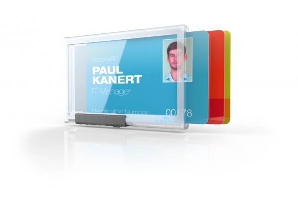 DURABLE Kartenhalter PUSHBOX TRIO 892019 f. 3 Karten 10 Stück