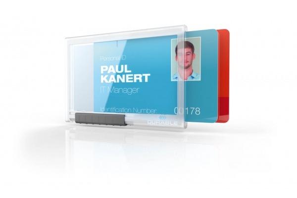 DURABLE Kartenhalter PUSHBOX DUO 892119 f. 2 Karten 10 Stück