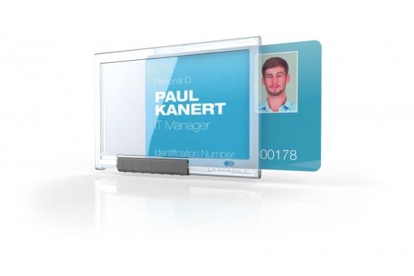 DURABLE Kartenhalter PUSHBOX MONO 892219 f. 1 Karte 10 Stück