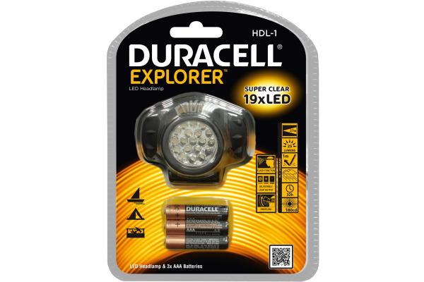 DURACELL Kopflampe HDL-1 Explorer 4-006976 inkl. 3xAAA