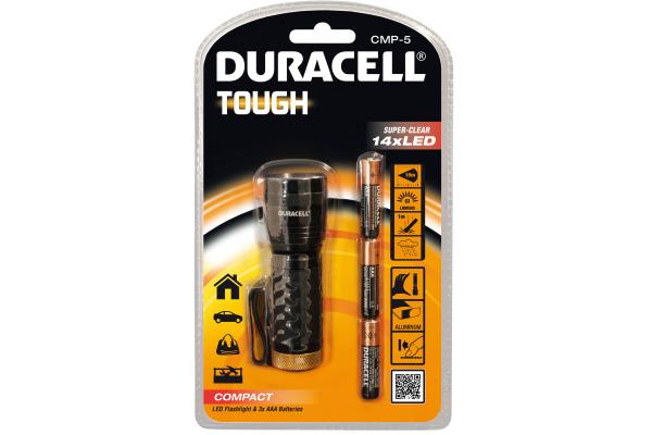 DURACELL Taschenlampe CMP-5 Tough 4-007195 inkl. 3xAAA