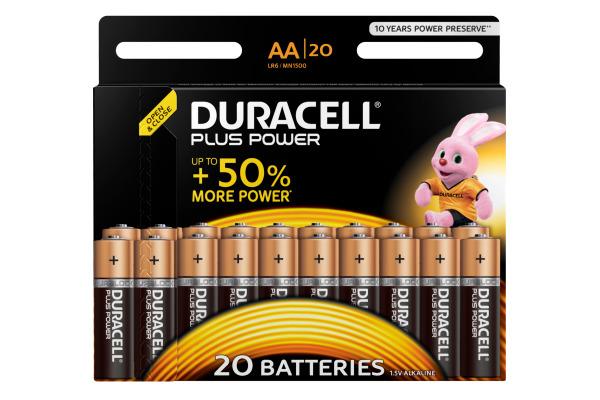 DURACELL Plus Power 4-017986 AA/LR6 20 Stück